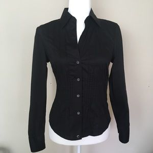 Ted Baker Black Long Sleeve Button Down Top